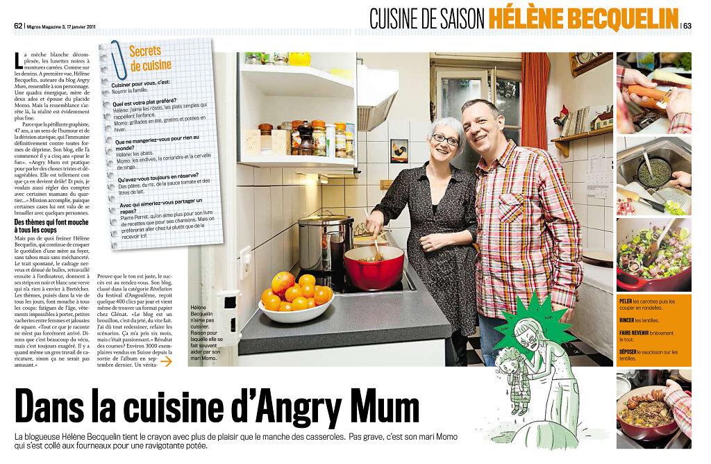Migros Magazine, janvier 2011