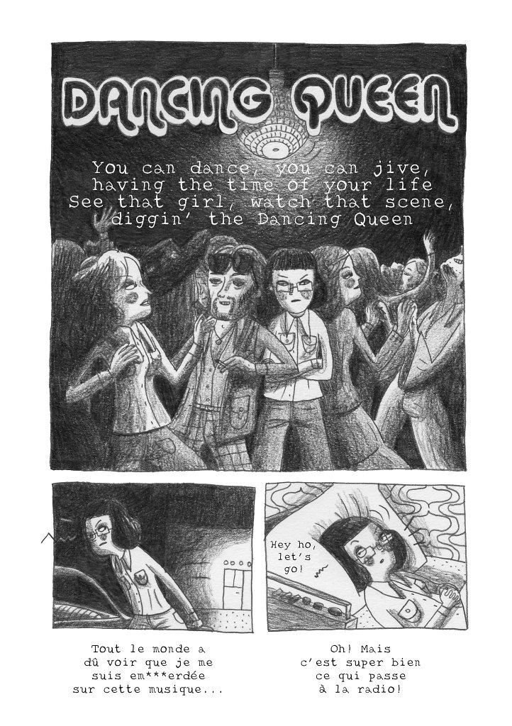"""""""Dancing Queen"""" Strip pour le fanzine """"La Bûche"""""""